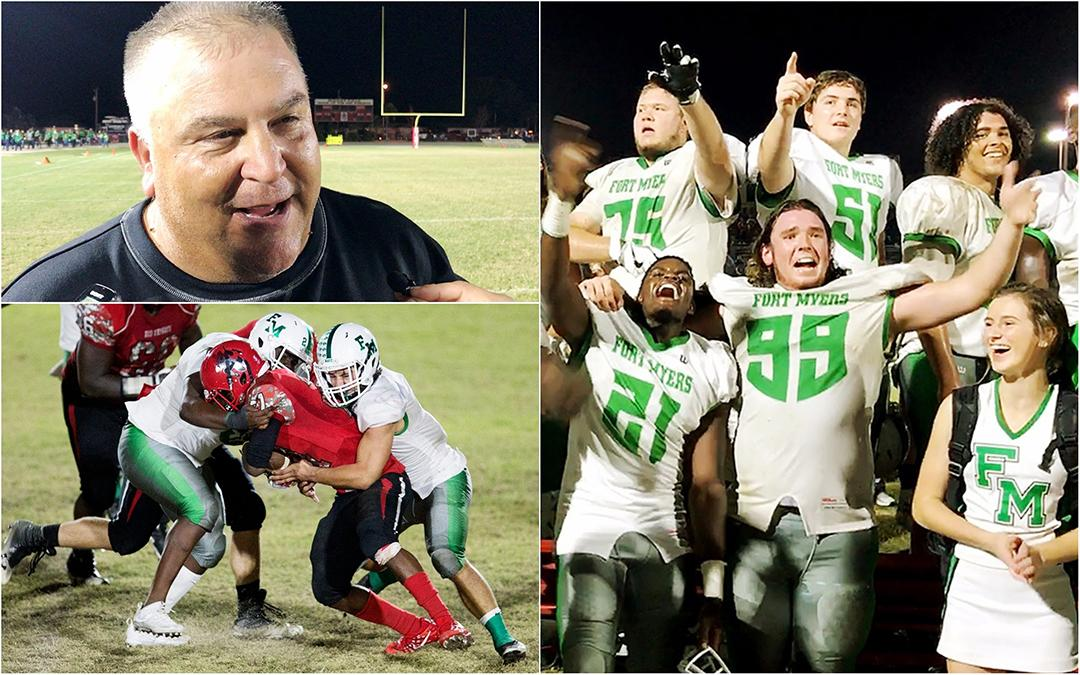 """That game was a time warp,"" Fort Myers High School head football coach Sam Sirianni Jr., shares his feelings on their epic playoff win over North Fort Myers on Friday. Fort Myers beat North 7-6. Fort Myers plays Naples next."
