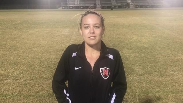 North Fort Myers senior Taylor Kruse broke the all-time scoring record Monday night with her 104th goal, ahd she finished with a hat trick to lead the Red Knights to a 13-0 win over Dunbar. Here are match highlights and reaction from the new Red Knights' all-time scoring leader.