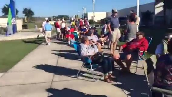 Jude Wimbiscus was among about 350 fans who stood in line while waiting for  Chicago Cubs' tickets vs. the Boston Red Sox at Jet Blue Park. It's the Cubs first appearance in Fort Myers against the Red Sox.
