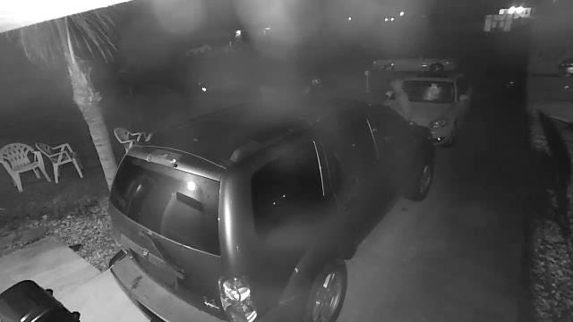 Surveillance video of  Tuesday morning car burglary.