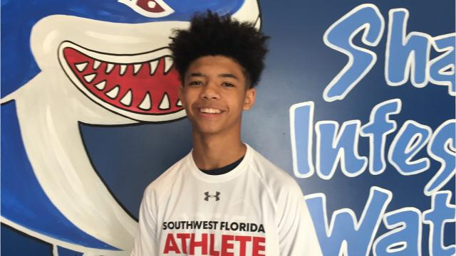 Oasis boys basketball junior Taylon Hutchins was voted by The News-Press readers as the Athlete of the Week for Nov. 27-Dec 2.