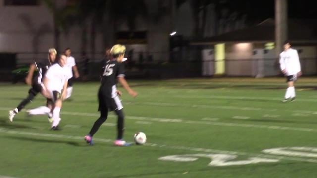 TJ McKay scored two goals to help Mariner defeat Bishop Verot 2-1; here's a look at the highlights.
