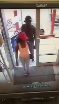 The Lee County Sheriff's Office is looking to identify a suspect caught on surveillance video using a credit card taken in a Lehigh Acres vehicle break-in.