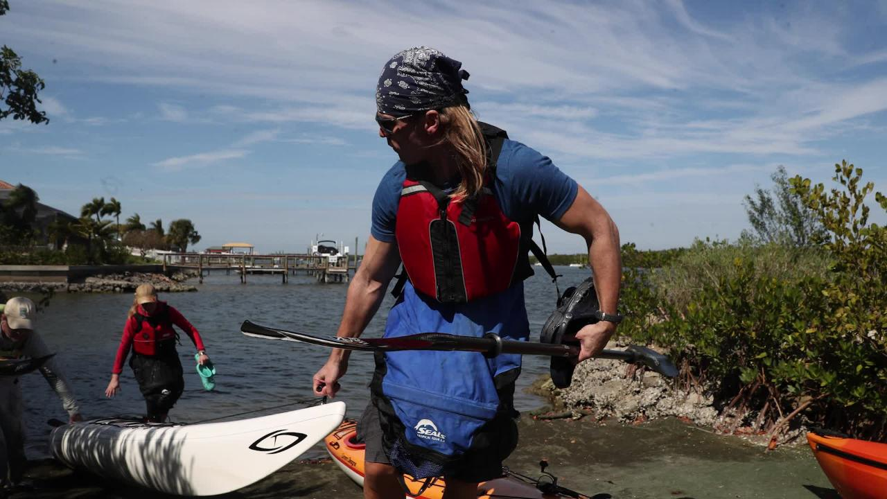 Dr. Dirk Rorhbach spending the week in Southwest Florida paddling the 100 mile trail