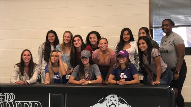 Acelya Aydogmus signed with Troy while Karleigh Acosta is heading to Northwestern State and Cassidee Rentsch inked with Daytona State College in a signing ceremony Wednesday at Mariner High.