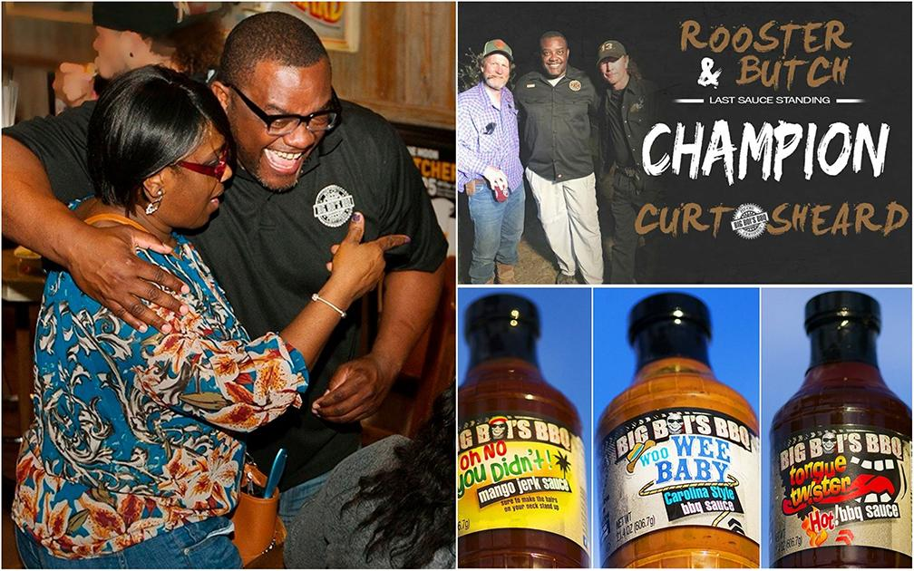 """""""We can bring the economic values back to Dunbar,"""" says Fort Myers entrepreneur Curt Sheard. Sheard won an episode of A&E's Rooster & Butch on Wednesday. Sheard hopes to build a distribution plant for his sauces in Dunbar."""