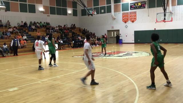 Four Green Wave players, led by 15 from Janay Outten send Fort Myers by Dunbar on Friday.