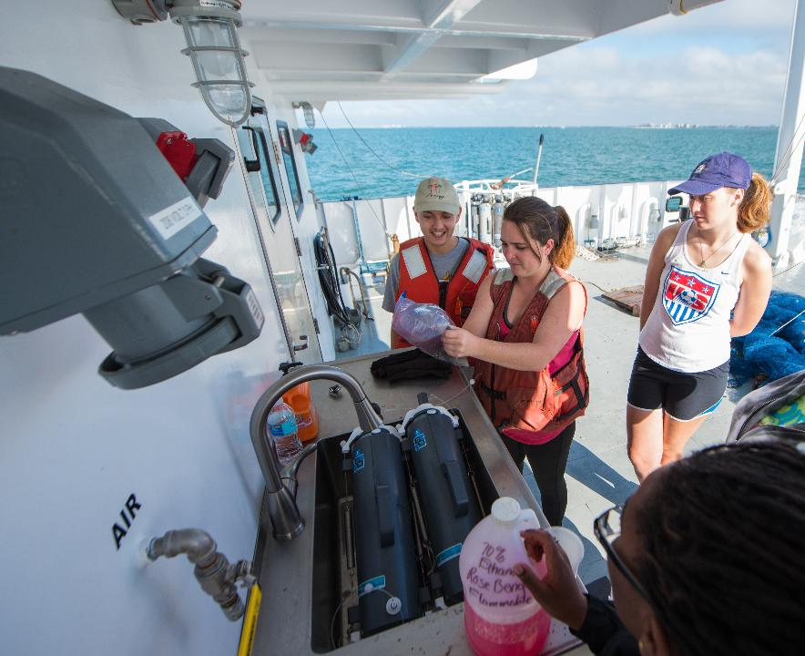 FGCU students get to use the Hogarth, a new marine research vessel