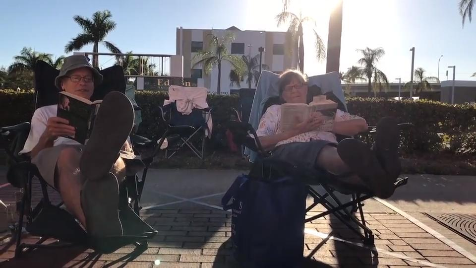 Prime spots for the Edison parade are hard fought. One Fort Myers family stakes their spot Christmas day, and has for 30 years.
