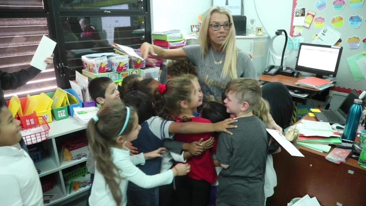 Brooke Przespolewski at Gulf Elementary is a 2018 Golden Apple Teacher Award Winner.