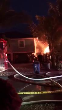 Firefighters are on the scene of a structure fire on Delmar Avenue on Fort Myers Beach on Tuesday night, March 13, 2018.