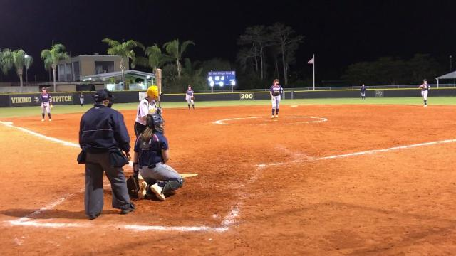 In a marquee matchup of area softball powers, Estero downs Bishop Verot on the road 4-2.