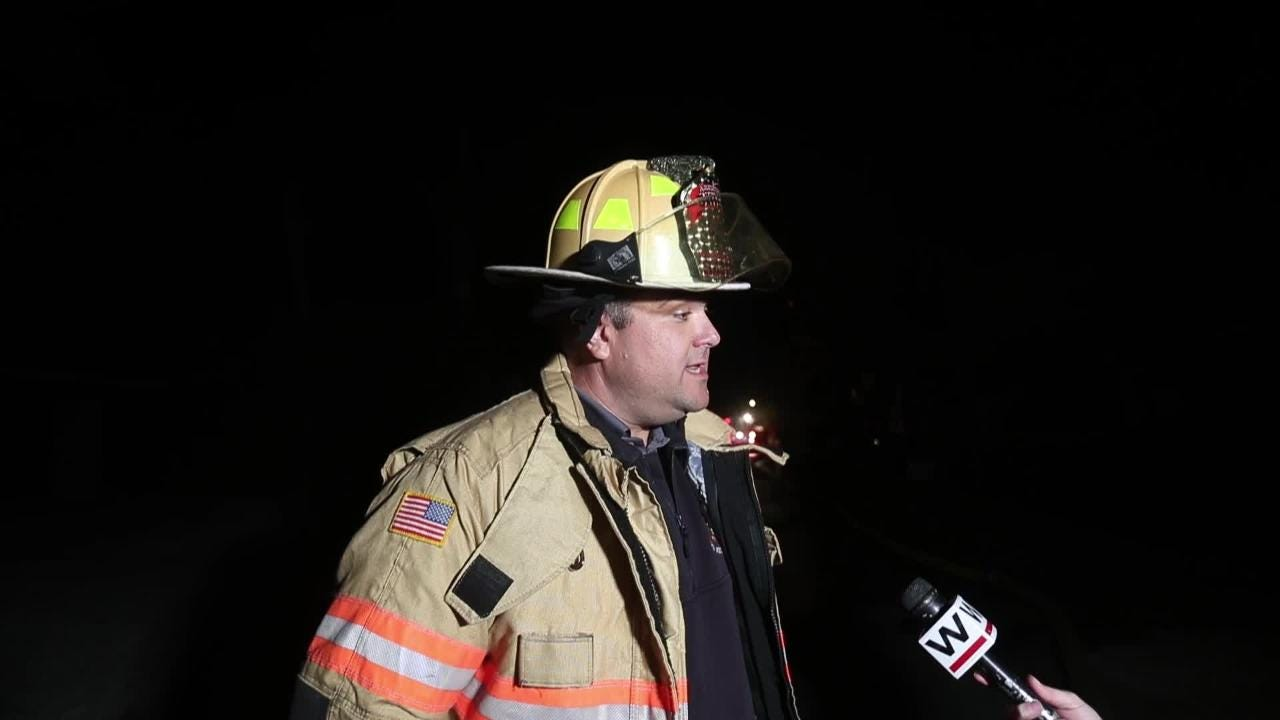 Fort Myers Beach fire marshal Ron Martin speaks about fire that sent three to the hospital with unknown injuries.