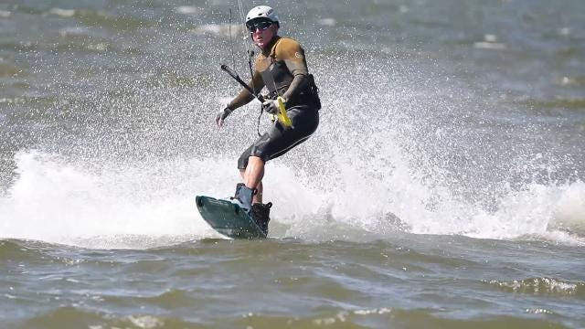 Kiteboarders and windsurfers came to the water off the first island of the Sanibel Causeway on Wednesday, March 14, 2018.
