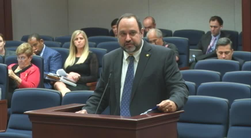 Florida channel footage of State Rep. Ray Rodrigues (R-Estero) presenting his student safety bill. The genesis of this bill was a SWFL mother who came to him with a concern over improper contact between a teacher and a student, her son.