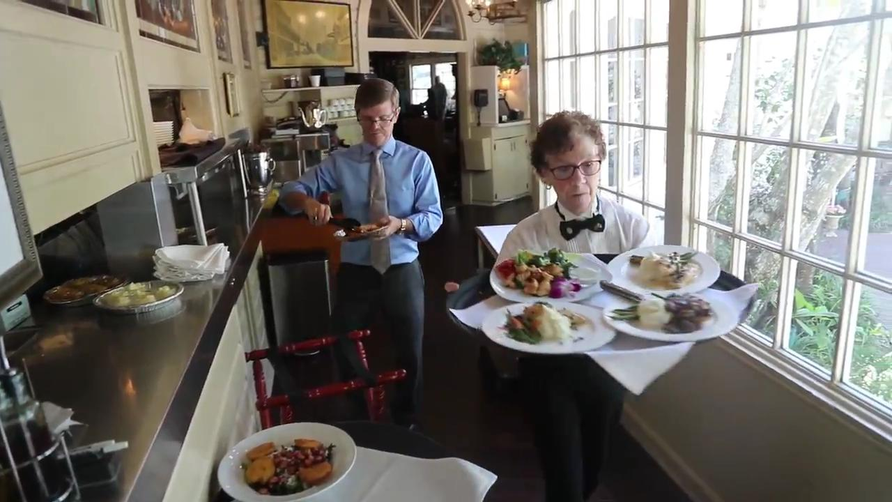 The Veranda, a restaurant that occupies two historic homes in downtown Fort Myers is 40 years old.
