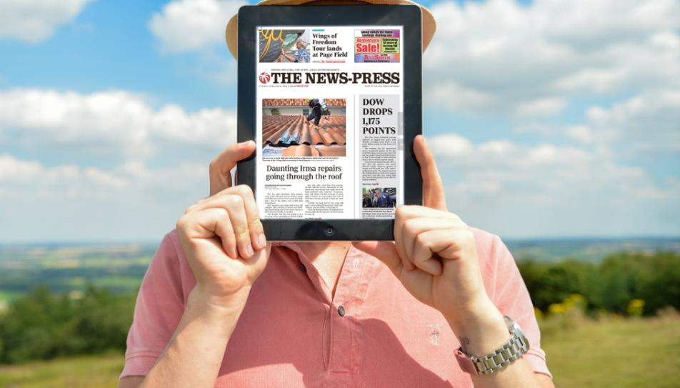 As a subscriber to The (Fort Myers) News-Press, you can access a digital replica of our print edition, right on your phone! Download the e-Edition app TODAY from the Apple Store or Google Play store!