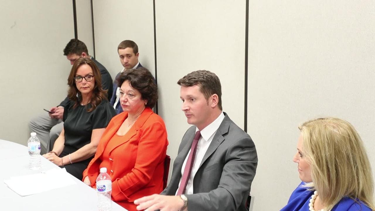 The SWFL legislative delegation met with students on mental health, school safety and gun control. Elected officials are, State Sen. Lizbeth Benacquisto, State Sen. Kathleen Passidomo, State Rep. Dane Eagle and State Rep. Heather Fitzenhagen.