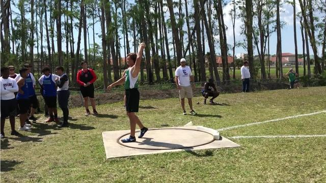 Fort Myers junior Jacob Lemmon starred Friday, winning both the shot put and discus events.