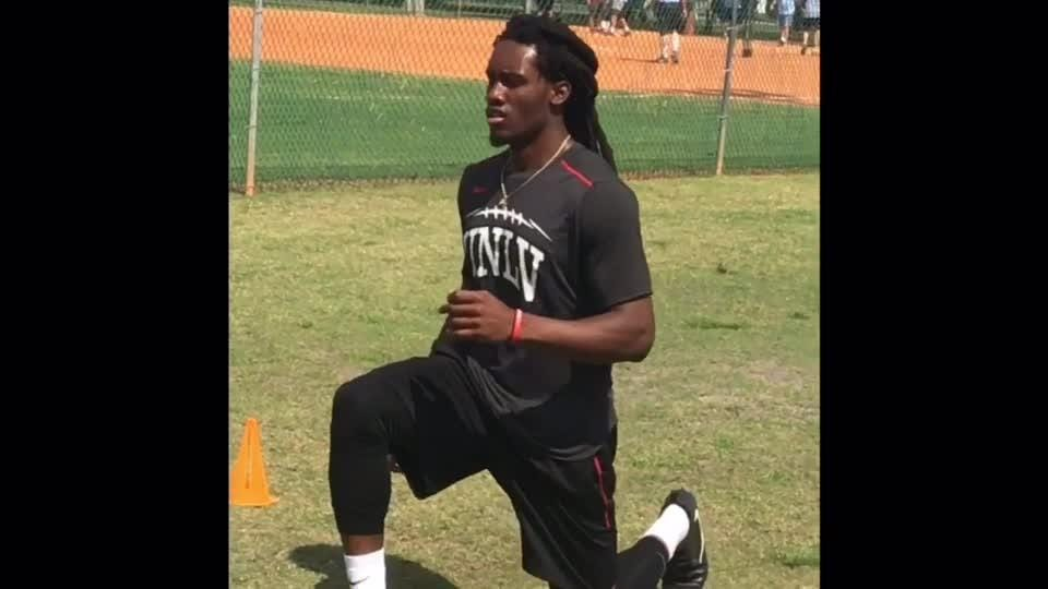 Jackson played just one year of high school and went through three different colleges but his pro day numbers caught attention of NFL scouts.