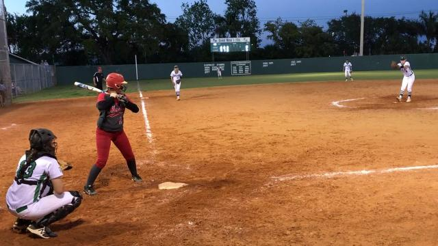Hannah Perkins' complete game shutout lifts Fort Myers by North Fort Myers 9-0 on Wednesday.