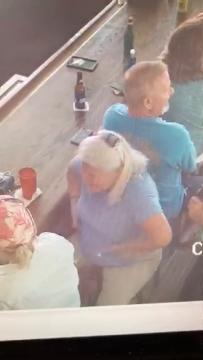 Video of Lois Ann Riess at the Smokin' Oyster Brewery on Fort Myers Beach on April 5, at about 5:40 p.m.