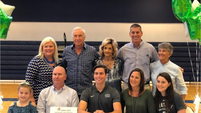 Oasis Charter senior goalkeeper Owen Jack signed a National Letter of Intent to continue his soccer career at Stetson University on Thursday at a ceremony at the school.