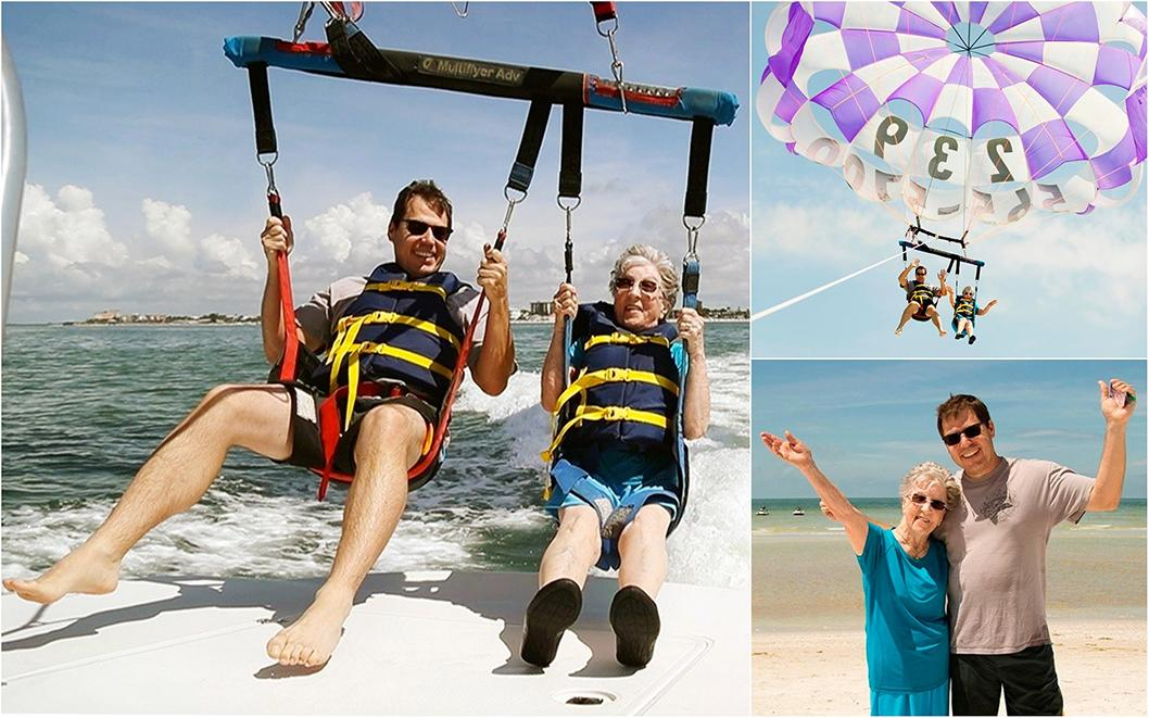 Happy birthday! 94-year-old has parasailing party in the sky