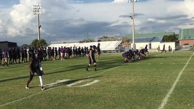 The two teams wrapped up spring ball as the Panthers took a 27-14 victory Friday night.