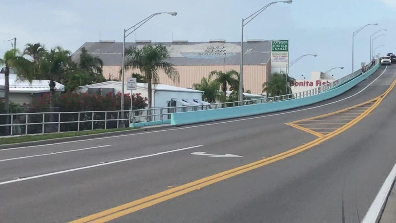 A multi-vehicle crash on Monday, May 21, 2018 closed the Matanzas Pass Bridge to Fort Myers Beach for hours.