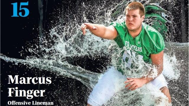 No. 15 on The News-Press and Naples Daily News list of 2018 top college football recruits is Fort Myers offensive lineman Marcus Finger.