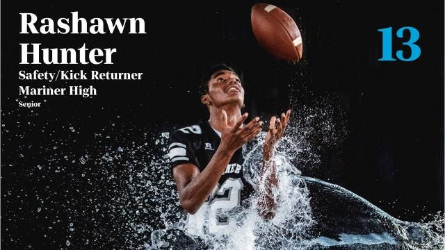 Mariner's Rashawn Hunter is a playmaker on offense, defense and special teams.