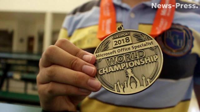 Dunbar High congratulates Microsoft Excel world champion