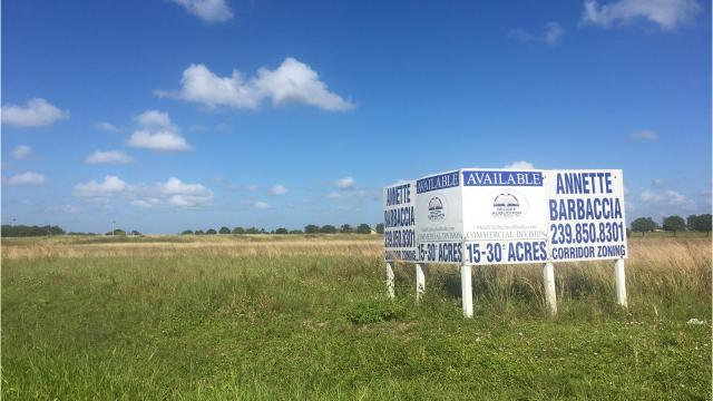 About $100 million worth of land, spread over 400 acres north and south of Pine Island Road in Cape Coral, is for sale. The corridor is experiencing a burst in development.
