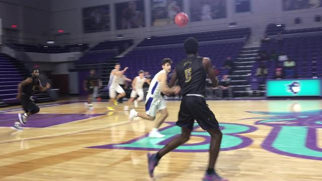 Delshawn Green scored 32 points and grabbed 8 rebounds to help lead Lehigh to a 77-71 victory over Canterbury at FSW. Chase Garrett led the Cougars with 22 points.
