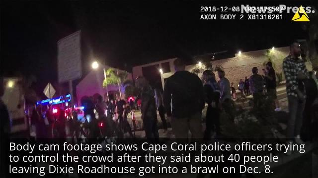 Body cams show police trying to control crowd after Dixie Roadhouse brawl