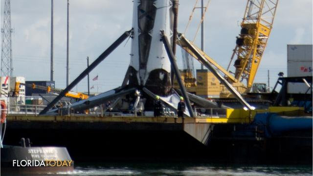 Robot Spotted On SpaceX Drone Ship As Falcon 9 First Stage
