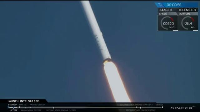 Video: SpaceX launches Falcon 9 on third try