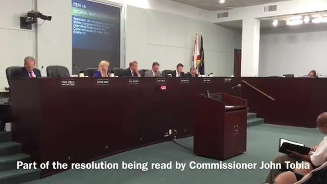 Resolution rejected by County Commissioners