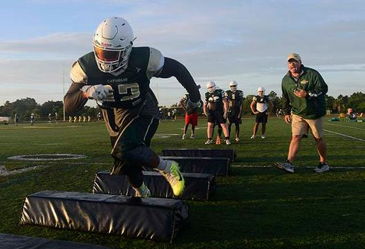 Video: Melbourne Central Catholic football practice