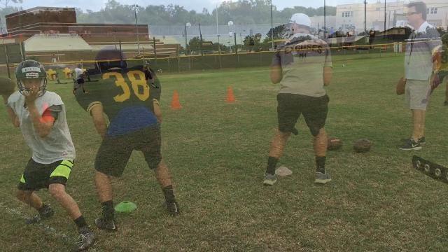 Video: Merritt Island High football practice