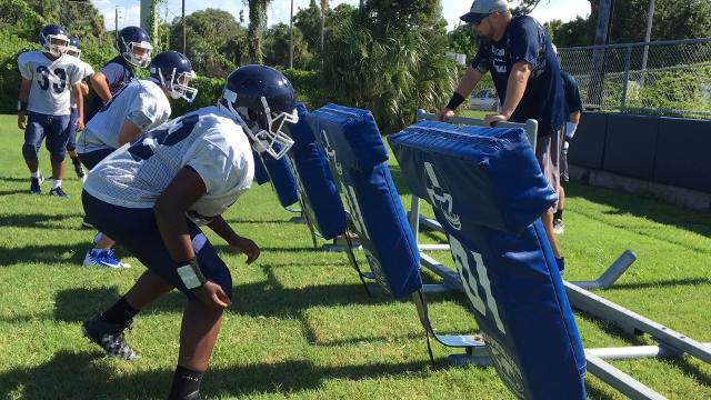 Video: Merritt Island Christian football practice