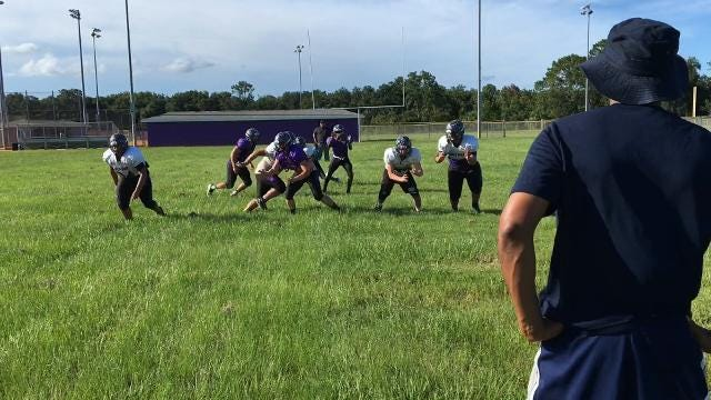 Video: Space Coast Jr/Sr High football practice