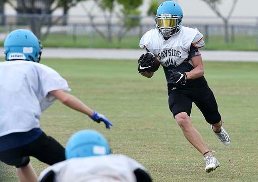 Video: Bayside High football practice
