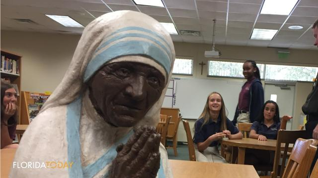 """Students at S. Joseph's School in Palm Bay were awarded the Mother Teresa """"Faith in Action"""" award."""