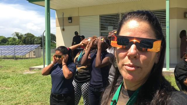 EFSC Planetarium, Endeavour Elementary go all out for solar eclipse