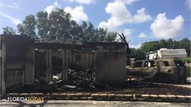A home on Westchester Drive was destroyed