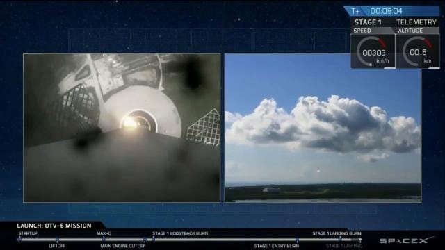 SpaceX launches, lands Falcon 9 on X-37B mini-shuttle mission