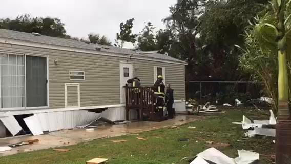 Hurricane Irma Damage Florida Palm Bay Tornado Destroys Six Mobile Homes