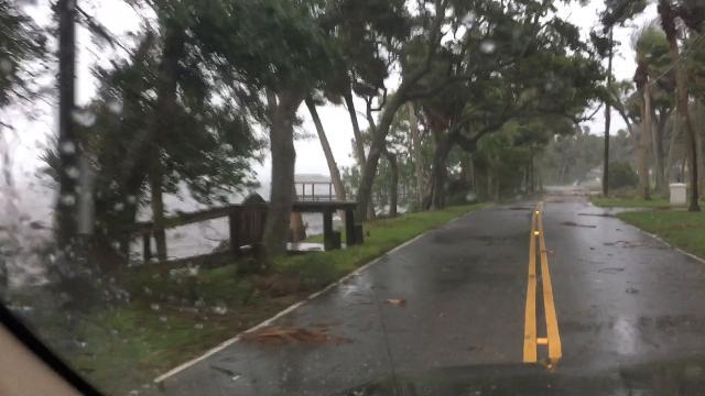 Hurricane Irma: Rockledge Drive on Sunday evening